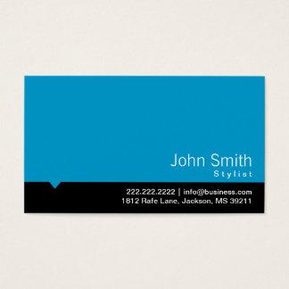 Moderne schwarze Bar-Stylist-Geschäfts-Karte Visitenkarte