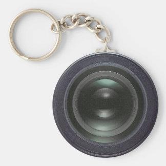 Moderne schwarze Kamera Standard Runder Schlüsselanhänger