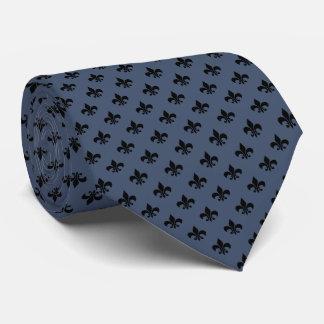 Moderne schwarze Lilie auf den blauen Jeans blau Krawatten