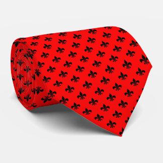 Moderne schwarze Lilie auf Rot Krawatten