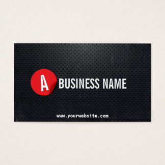 Moderne schwarze Stahlpsychologe-Visitenkarte Visitenkarte