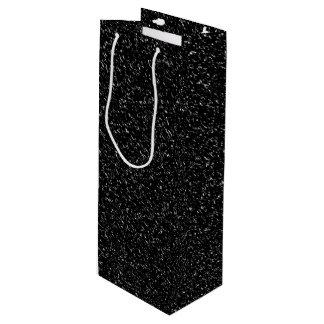 Moderne schwarze Steinart - Raum Geschenktüte Für Weinflaschen
