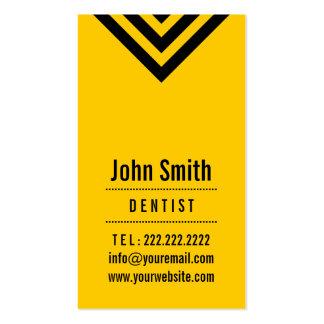 Moderne schwarze u. gelbe Zahnarzt-Visitenkarte Visitenkarten