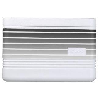 Moderne schwarze u. weiße Steigungs-Streifen Igloo Kühlbox
