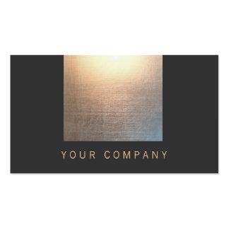 Moderne schwarzes berufliches des Zen-Glühen-2 Visitenkarten