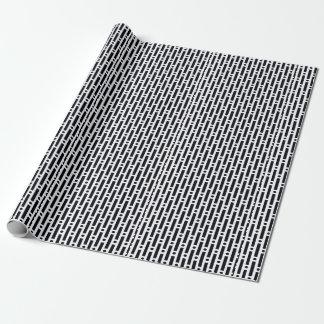 Moderne Schwarzweiss-Kreise und Streifen Geschenkpapierrolle