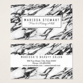 Moderne Schwarzweiss-MarmorVisitenkarte Visitenkarte