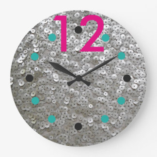 Moderne Sequined Wanduhr