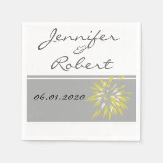 Moderne Silber-und Butterblume-Blumen-Serviette Papierservietten