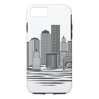 Moderne Stadt-Skyline iPhone 8/7 Hülle