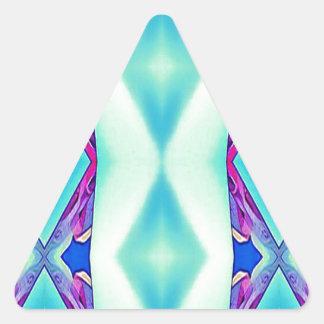 Moderne Stammes- Schatten des aquamarinen Dreieckiger Aufkleber