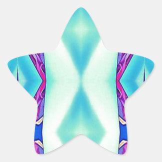 Moderne Stammes- Schatten des aquamarinen Stern-Aufkleber