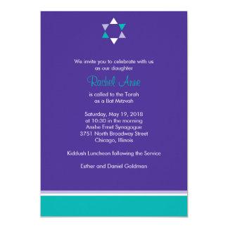 Moderne Stern-Schläger Mitzvah Einladung