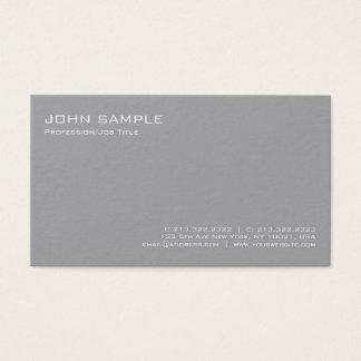 Moderne stilvolle graue berufliche einfache Ebene Visitenkarte