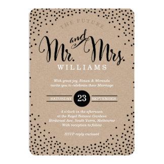 MODERNE STILVOLLE HOCHZEIT mini schwarzer Confetti 12,7 X 17,8 Cm Einladungskarte
