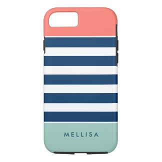 Moderne stilvolle korallenrote tadellose iPhone 8/7 hülle