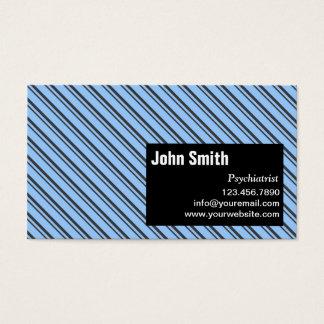 Moderne Streifen-Psychiaters-Visitenkarte Visitenkarte