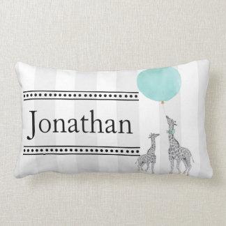 Moderne Streifen und Giraffen-Kinderzimmer-Kissen Lendenkissen