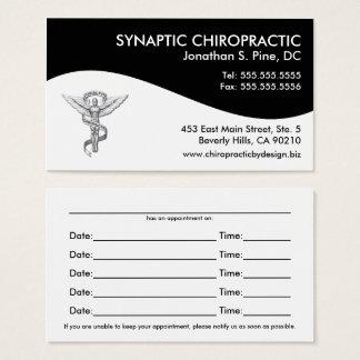 Moderne Strudel-Chiropraktik-Verabredungs-Karten Visitenkarte