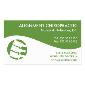 Moderne Strudel-Chiropraktik-Visitenkarten Visitenkarten