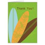 Moderne Surfbretter danken Ihnen Anmerkungs-Karte