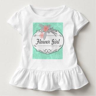 Moderne tadellose Damast-Hochzeit laden ein Kleinkind T-shirt