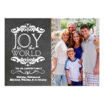 Moderne Tafel-Freude zur Weltflachen Foto-Karte Personalisierte Ankündigungskarte