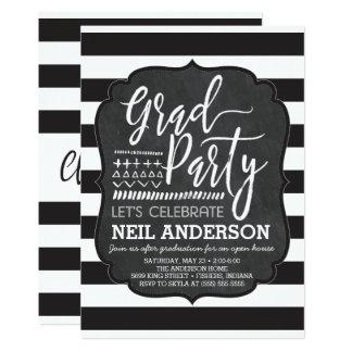 Moderne Tafel skizzierte Absolvent-Party Karte