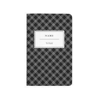 Moderne Taschen-Zeitschrift für ihn - Schwarzes Taschennotizbuch