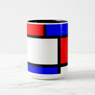 Moderne Tasse Mondrian-Stil