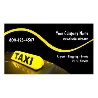 Moderne Taxi-Visitenkarten Visitenkarten