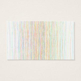 Moderne Trendy bunte Hand gezeichnete Linie Kunst Visitenkarten