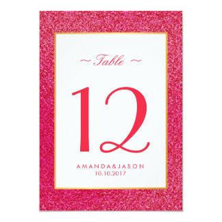 Moderne Trendy rosa glatte Glitzer-Hochzeit Karte