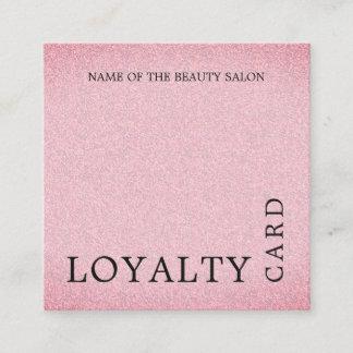 Modern Texture Pink Beauty Loyalty Card