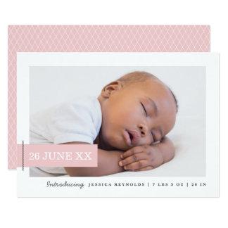 Moderne Umbau-Foto-Geburts-Mitteilungs-Karte 12,7 X 17,8 Cm Einladungskarte