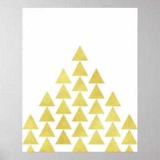 Moderne unbedeutende geometrische poster