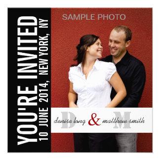 Moderne Verlobungs-Foto-Hochzeits-Einladungen
