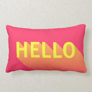 Moderne vibrierende rosa und gelbe lendenkissen