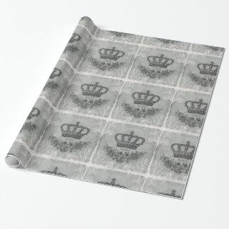 moderne Vintage französische Krone Geschenkpapier