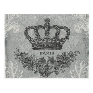 moderne Vintage französische Krone Postkarten