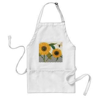 moderne Vintage französische Sonnenblume Schürze