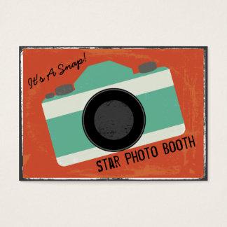 Moderne Vintage Kamera-Foto-Stand-Fotografie Visitenkarte