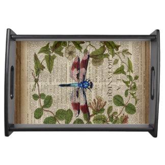 moderne Vintage Libelle des französischen Serviertablett