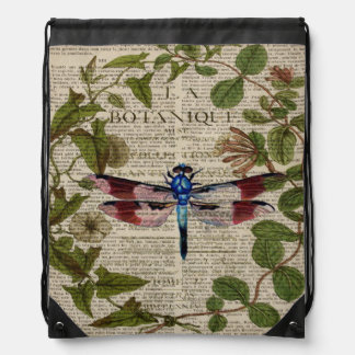 moderne Vintage Libelle des französischen Sportbeutel
