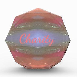 Moderne weiche Wohltätigkeit-künstlerisches Muster Acryl Auszeichnung
