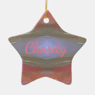 Moderne weiche Wohltätigkeit-künstlerisches Muster Keramik Stern-Ornament
