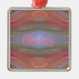 Moderne weiche Wohltätigkeit-künstlerisches Muster Quadratisches Silberfarbenes Ornament