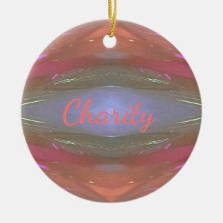 Moderne weiche Wohltätigkeit-künstlerisches Muster Rundes Keramik Ornament