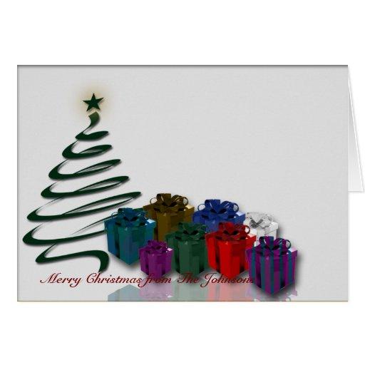 moderne weihnachtsbaum grafik mit hellen geschenke karte. Black Bedroom Furniture Sets. Home Design Ideas