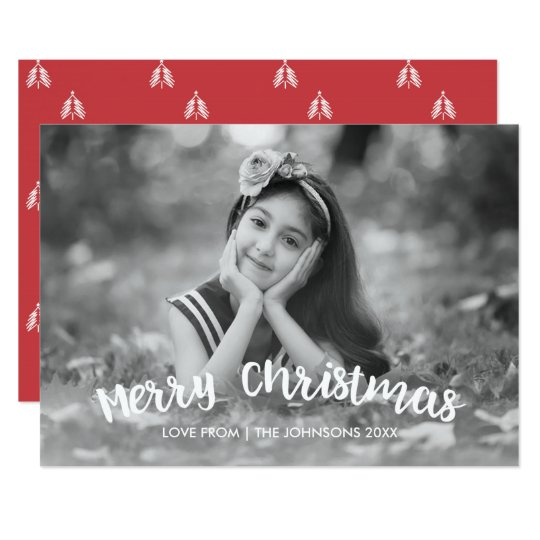 Moderne Weihnachtsfeiertags-Foto-Karte 12,7 X 17,8 Cm Einladungskarte